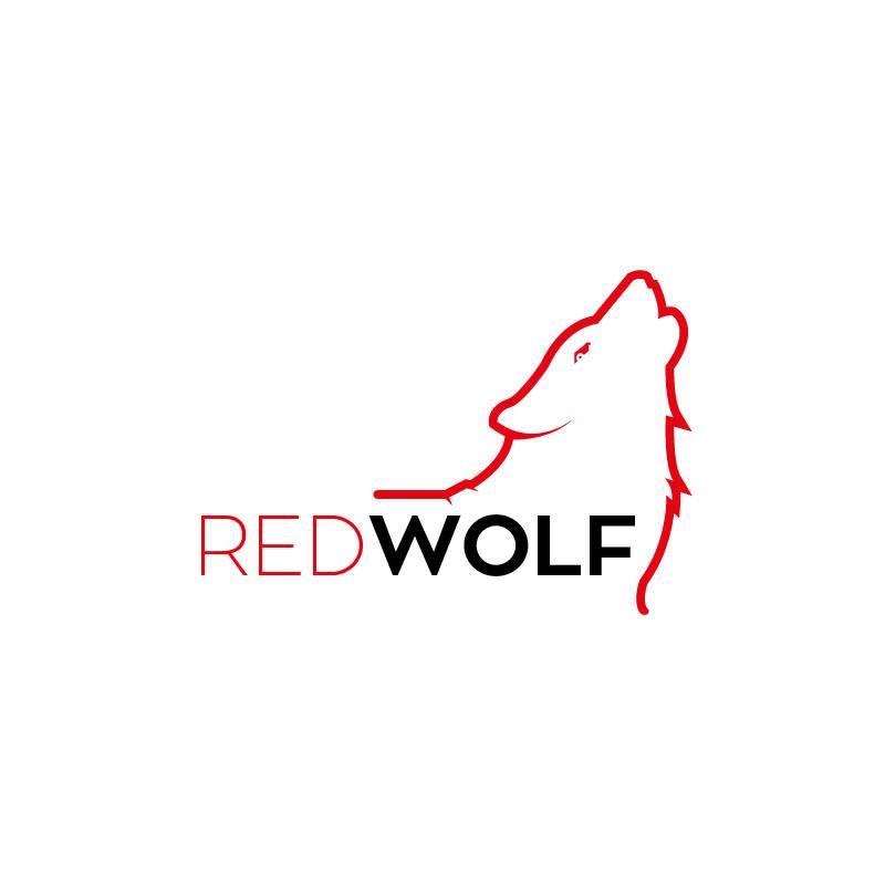 red wolf logo design