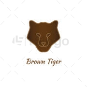 Brown Tiger Logo Template