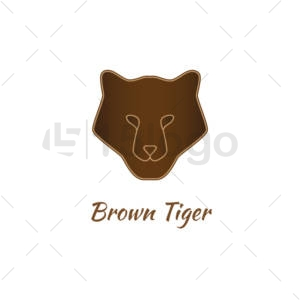 Brown Tiger Logo Template