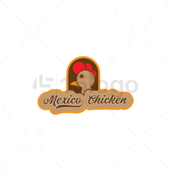 mexico chicken online logo template