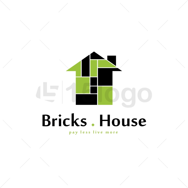 Bricks House Logo Template