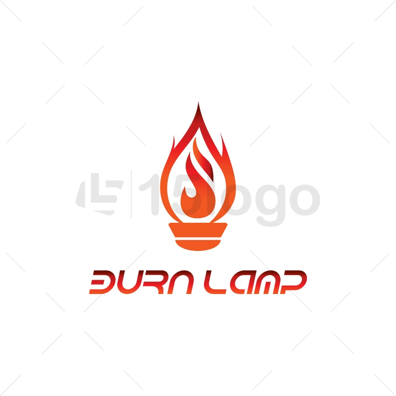 Burn Lamp Logo Design