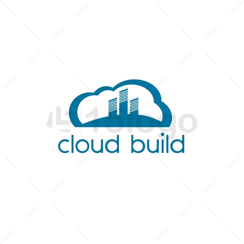 Cloud Build Logo Design