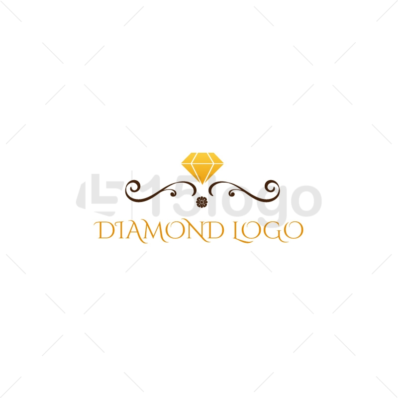 symbol logo vector creative elegant color image diamond stock