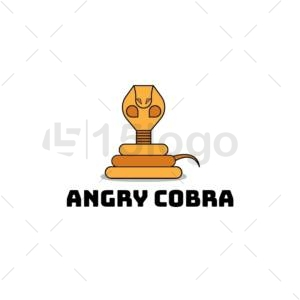 angry cobra online logo template