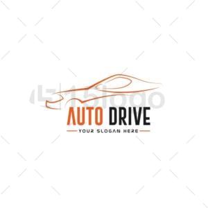 auto drive online creative logo