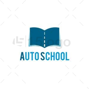 auto school online creative logo