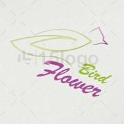 bird flower online logo design