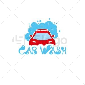 car wash online logo template