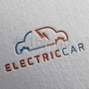 electric car creative logo