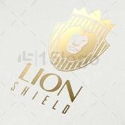 lion shield online logo design