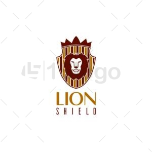lion shield online logo design