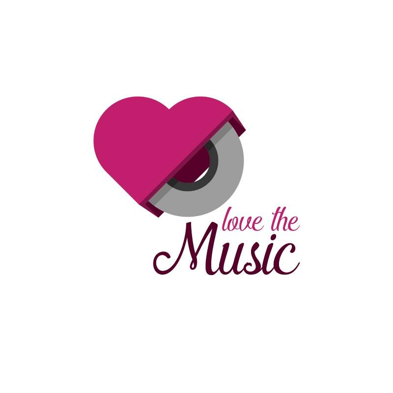 Love the music logo 15logo for Love in design