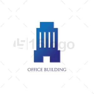office building shop creative logo