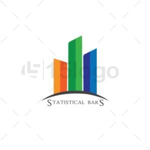 statistical bars online logo design