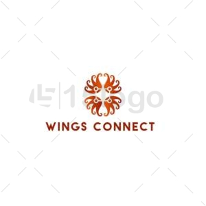 wings connect online logo design