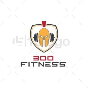 300 fitness online logo design
