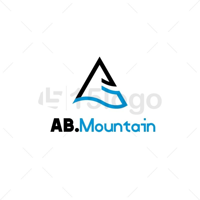 AB.Montain Logo Design