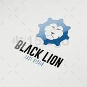 black lion online logo template