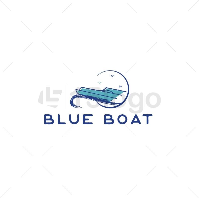 Blue Boat Logo Design