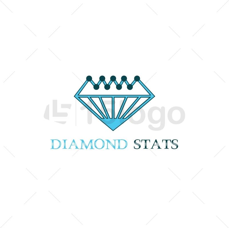 Diamond Stats Logo Design