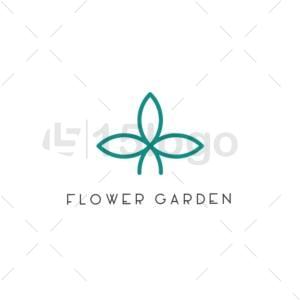 flower garden logo design