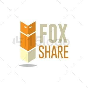 fox share shop logo design