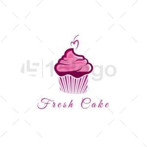 fresh cake logo design