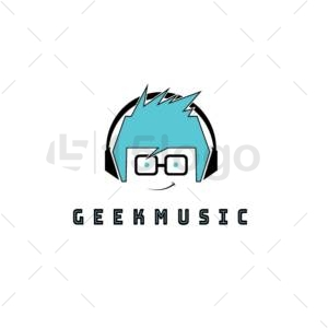 geek music creative logo