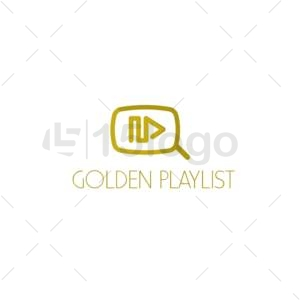 golden playlist online logo template