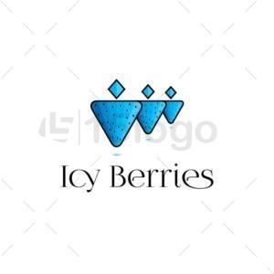 icy berries logo design