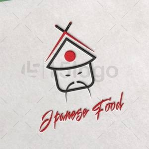 japanese food logo design