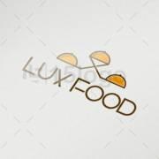 lux food logo design