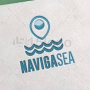 navigasea logo design