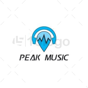 peak music logo design