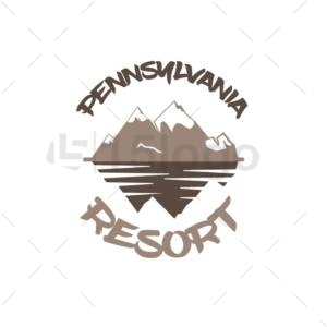 pennsylvania resort logo design