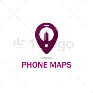 phone maps logo template