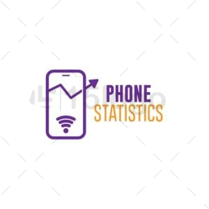 phone statistics online logo design