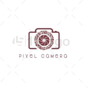 pixel camera logo template