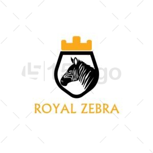 royal zebra online logo design