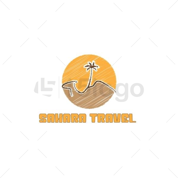 sahara travel logo design