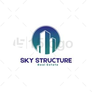 sky structure creative logo