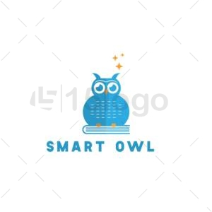 smart owl logo design