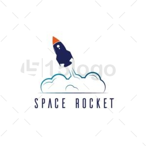 space rocket logo template