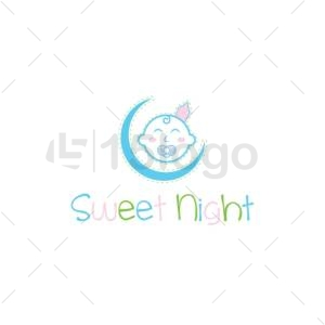 sweet night logo template