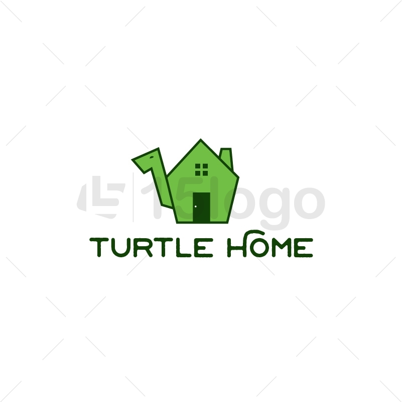 Turtle Home Logo Template
