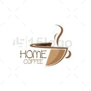 home coffee shop creative logo