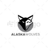 alaska wolves logo template