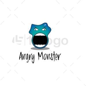 angry monster logo design
