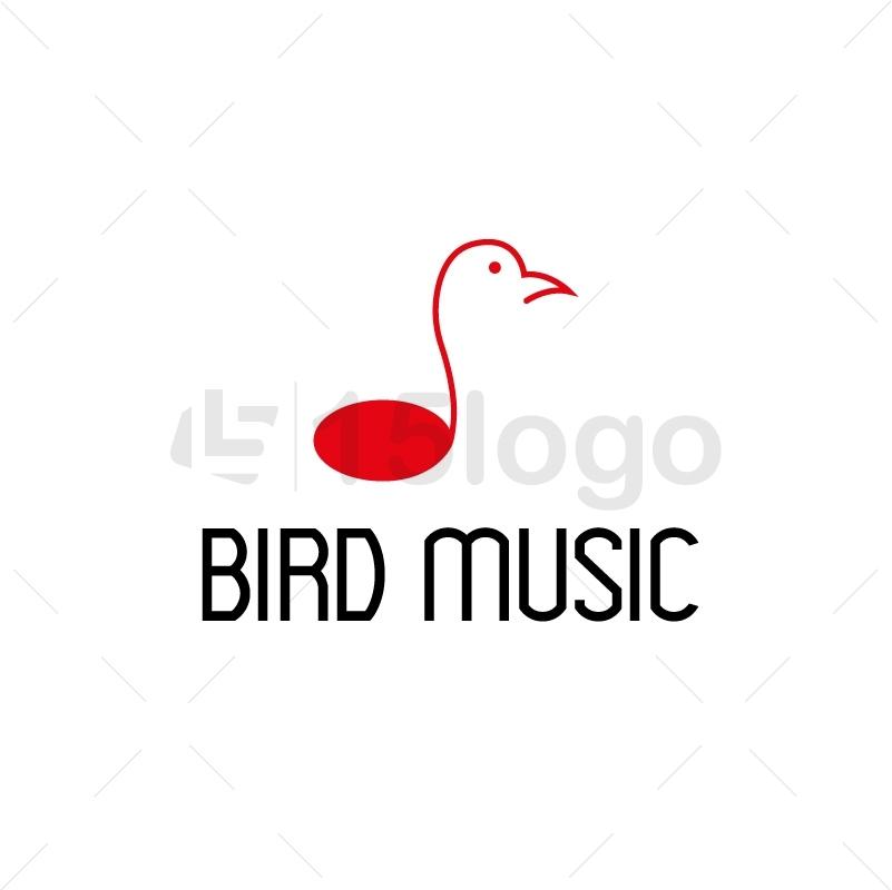 Bird Music Creative Logo